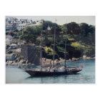 Sailing Ship coming into Harbour Postcard
