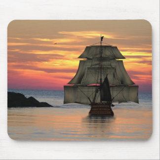 Sailing ship mouse mats