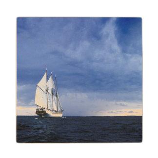 Sailing Ship On The Baltic Sea Maple Wood Coaster