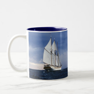 Sailing Ship On The Baltic Sea Two-Tone Coffee Mug