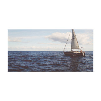 Sailing Ship on the water | Sky | Ocean Canvas Print