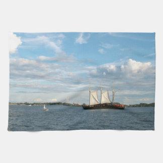 Sailing Ship Tea Towel