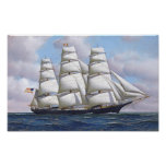 Sailing Ship Vintage Poster