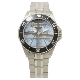 Sailing Ship Wheel and Rigging Wrist Watches