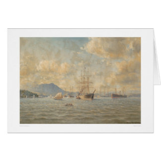 Sailing ships at Anchor (1282) Greeting Card