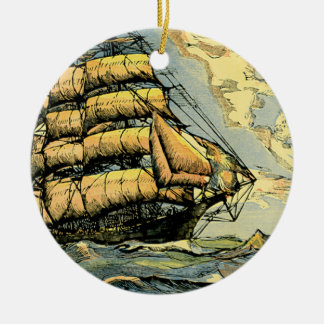 Sailing Ships Christmas Ornament