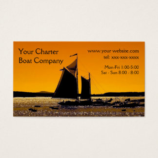 Sailing Silhouette Template Business Card