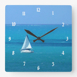 Sailing Square Wall Clock