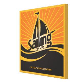Sailing Sun And Sea Canvas Print