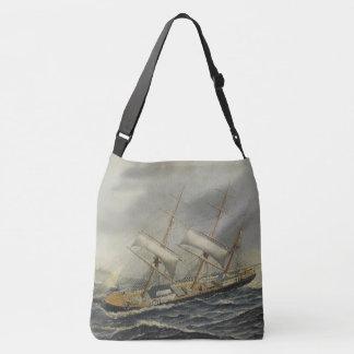 Sailing Tall Ship Ocean Waves Seas Tote Bag