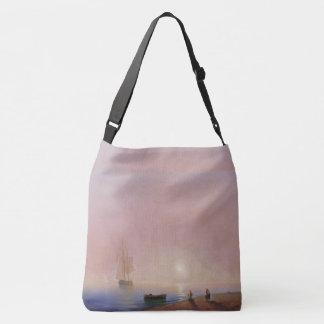 Sailing Tall Ships Ocean Mist Rowboat Tote Bag