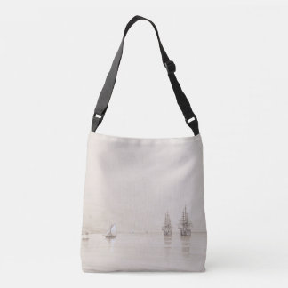 Sailing Tall Ships Ocean Russian Art Tote Bag