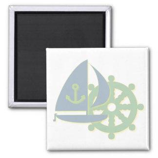 Sailing Team Square Magnet