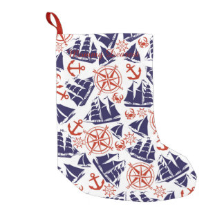 Sailing the Seas Small Christmas Stocking