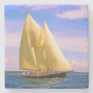 Sailing The Sound Stone Coaster