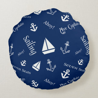 Sailing Theme Nautical Throw Pillow