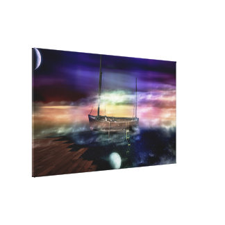 Sailing Through The Night Sky - Canvas