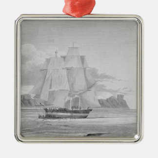 Sailing through young ice, September 1824, from 'J Christmas Ornament