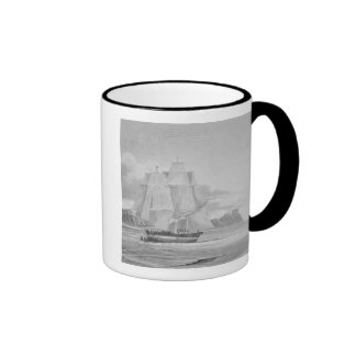 Sailing through young ice, September 1824, from 'J Coffee Mug