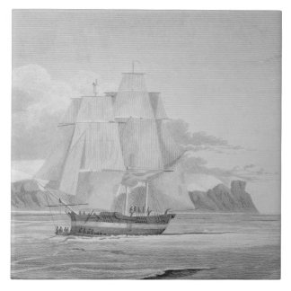 Sailing through young ice, September 1824, from 'J Tile