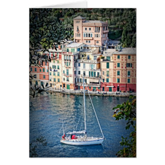 Sailing to Portofino, Italia Greeting Card