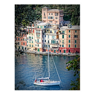 Sailing to Portofino, Italia Postcard