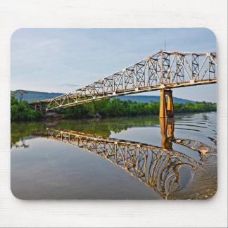 Sailing Under A Bridge Over The Tennessee River Mouse Mat