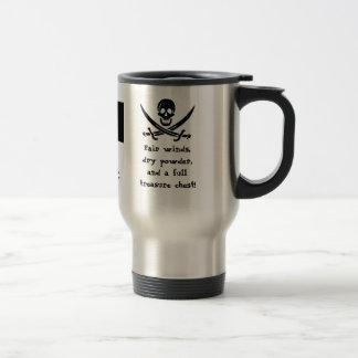 Sailing Under the Black Flag! Travel Mug