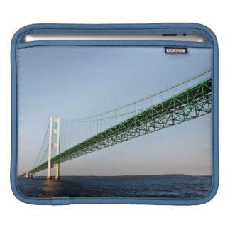 Sailing Under The Mackinac Bridge iPad Sleeve