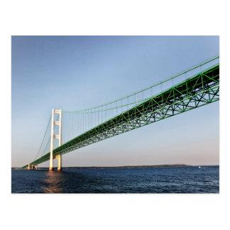 Sailing Under The Mackinac Bridge Postcard