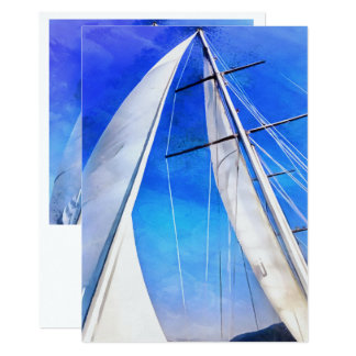 Sailing Unties The Knots Of My Mind 13 Cm X 18 Cm Invitation Card