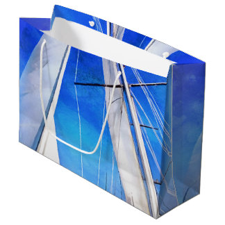 Sailing Unties The Knots Of My Mind Large Gift Bag