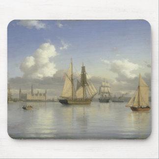 Sailing Vessels off Kronborg Castle, Sweden, 1880 Mouse Mat