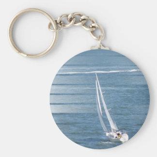Sailing Wind Design Keychain