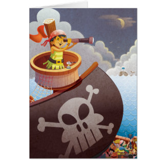 Sailing with Pirates Card