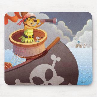 Sailing with Pirates Mouse Mat