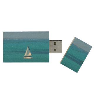 Sailing Wood USB Flash Drive