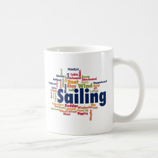 Sailing Word Cloud Coffee Mug