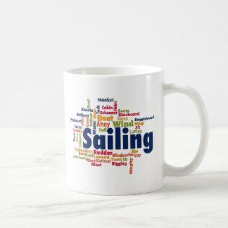 Sailing Word Cloud Basic White Mug