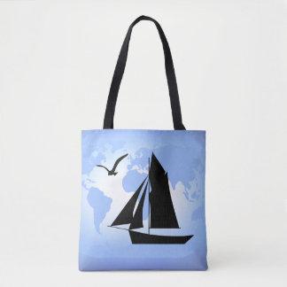 Sailing World Ocean Tote Bag