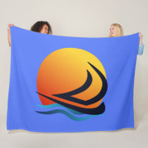 Sailing Yacht at Sunset Fleece Blankets