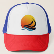 Sailing Yacht at Sunset Hat