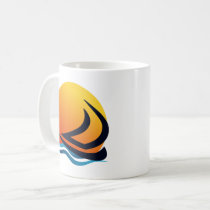 Sailing Yacht at Sunset Mugs & Travel Mugs