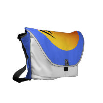 Sailing Yacht at Sunset Rickshaw Messenger Bag
