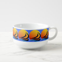 Sailing Yacht at Sunset Soup Mugs