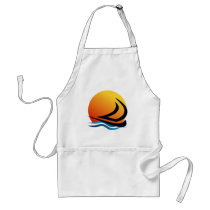 Sailing Yacht at Sunset Standard Apron