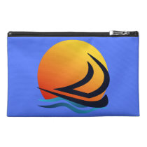 Sailing Yacht at Sunset Travel Accessory Bags