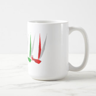Sailing   Yacht lovers yachting sail boat Basic White Mug