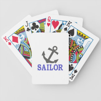 Sailor Anchor Bicycle Playing Cards
