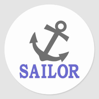 Sailor Anchor Classic Round Sticker